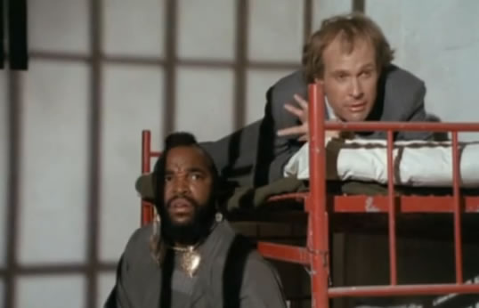 B.A. and Murdock in jail
