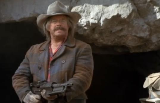 Hannibal whittles himself a gun!