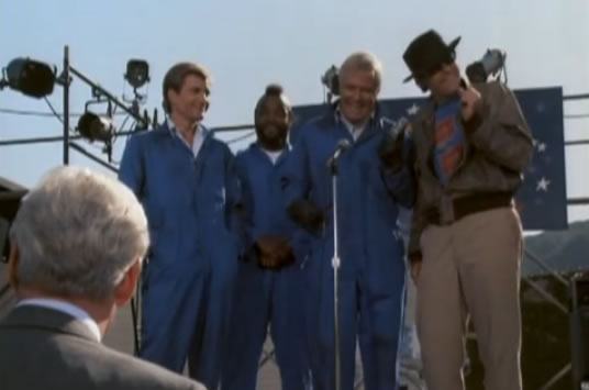 The A-Team as roadies for Rick James