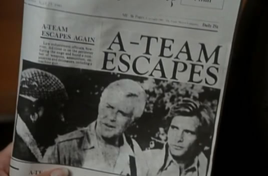 Newspaper: 'A-Team Escapes'