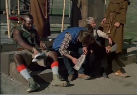 The A-Team changes their shoes