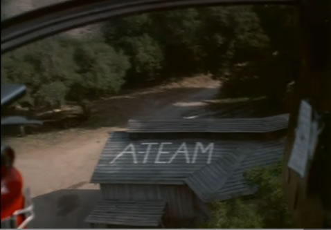 'A-Team' written on a barn roof