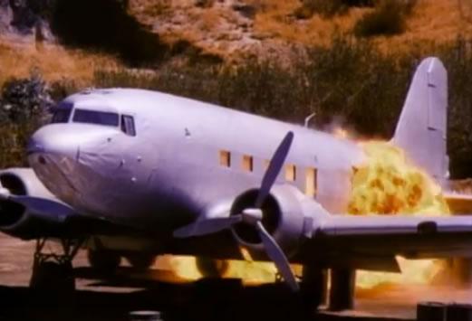 Exploding plane