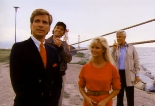 Face, Murdock, a blonde lady and Hannibal