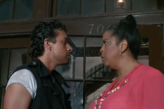 Mama Baracus stares down a thug