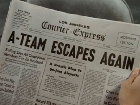 Newspaper: 'A-Team escapes again'
