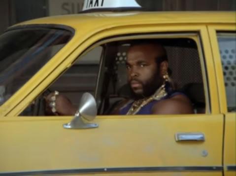 B.A. drives a cab