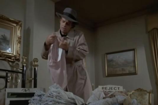Murdock inspects underwear