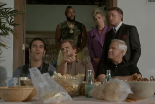 The A-Team watches football