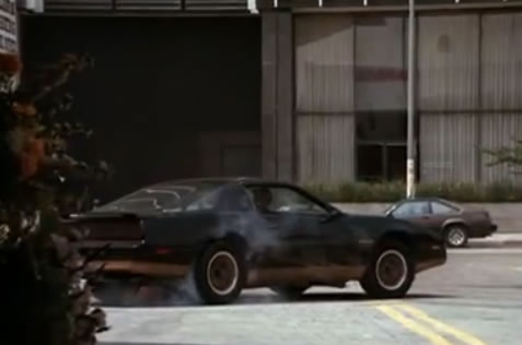 The very Knight Rider-ish getaway car