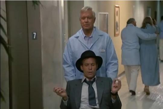 Murdock dressed as Frank Sinatra