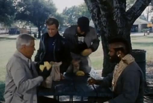 A-Team burger picnic