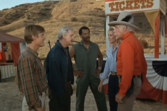 The Fake A-Team confronts Captain Winnetka and Carrie