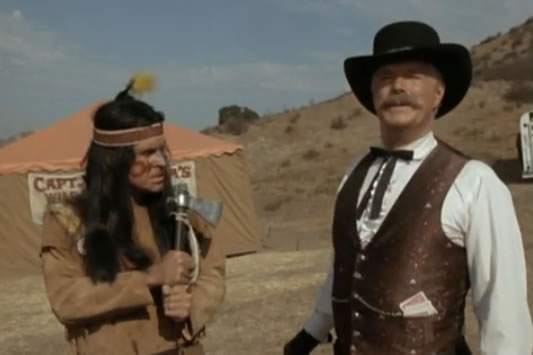 Murdock and Hannibal dressed as cowboys and Indians