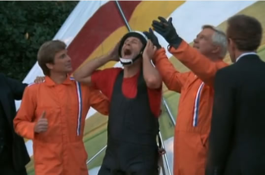 Hannibal, Murdock and Face, renowned hang gliding team