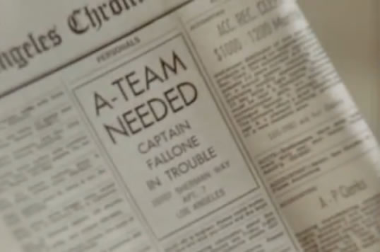 Classified ad says 'A-TEAM WANTED'