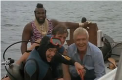 The A-Team is on a boat