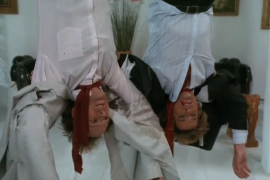 Murdock and Face are upside down