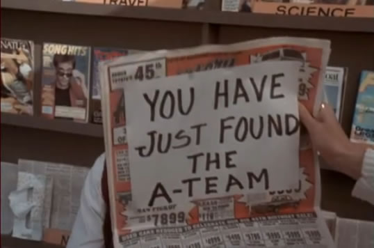 Newspaper says 'You just hired the A-Team'