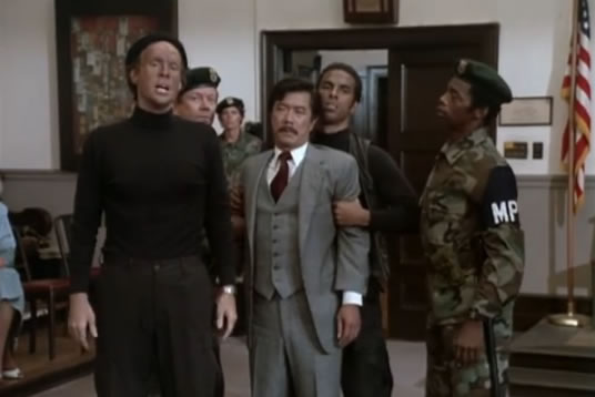 Murdock brings the Vietnamese colonel into the court