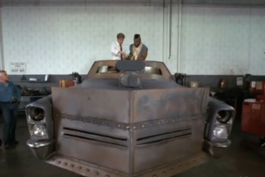 The A-Team's armored deathmobile