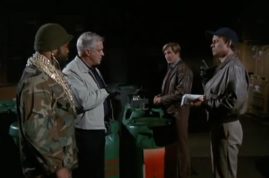 The A-Team ponders a warehouse full of toxic waste