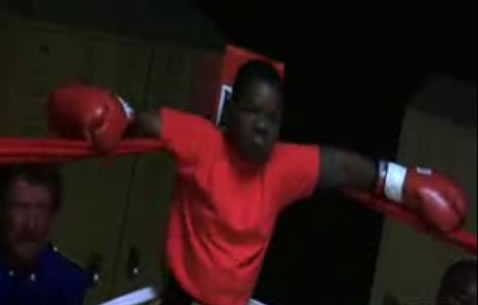 Gary Coleman in a boxing ring