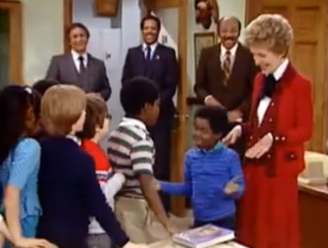 Gary Coleman and Nancy Reagan