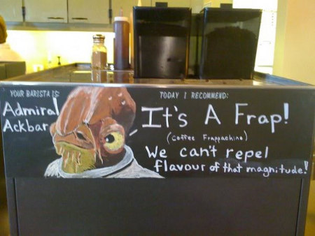 It's a frap! We cannot repel flavour of that magnitude.