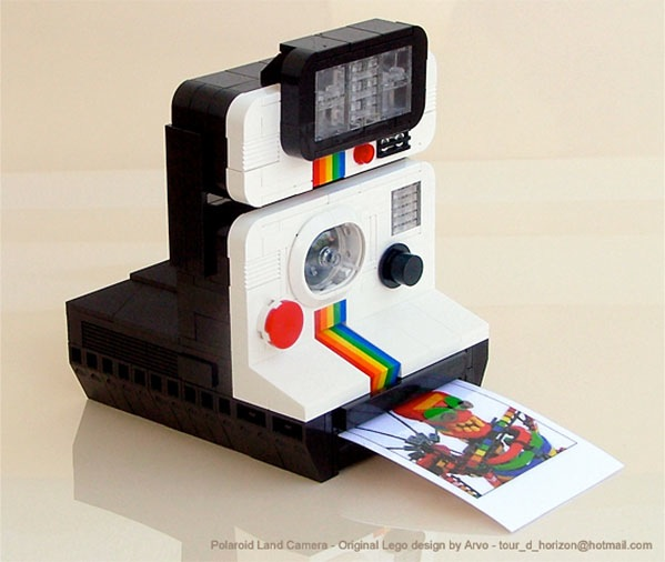 LEGO Polaroid camera