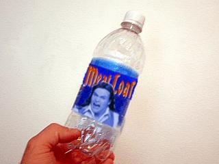 Meat Loaf bottled water