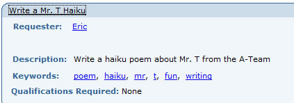 Write a mr. t haiku