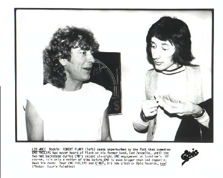 Robert Plant and Emo Philips