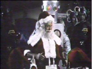 Santa and a robot