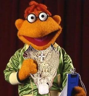 Muppet Scooter with Mr. T's gold chains