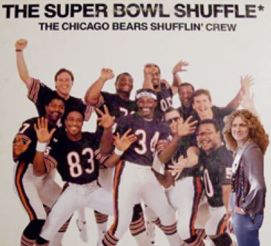 Chicago Bears Shufflin' Crew and Robert Plant