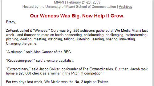 Our Weness Was Big. Now Help It Grow