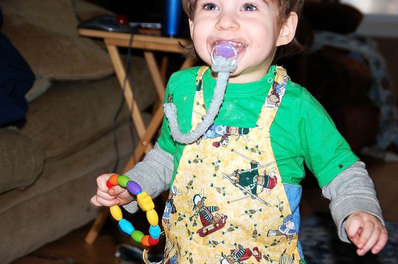 Owen's new apron