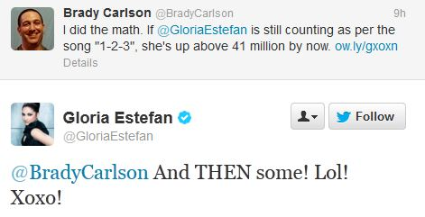 "Gloria Estefan to Brady: ""LOL, xoxo!"""