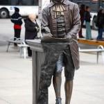 Thomas Jefferson statue at Jefferson Park Transit Center.