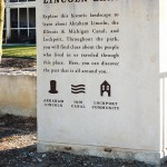 Welcome stone at Lincoln Landing