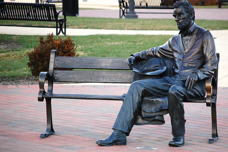 Lonely Lincoln statue