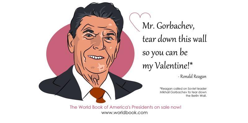 Valentine Reagan to Gorbachev