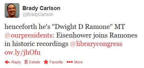 "henceforth he's ""Dwight D Ramone"""