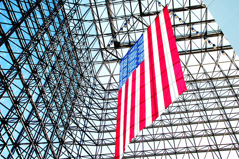Flag in the JFK Library in Boston