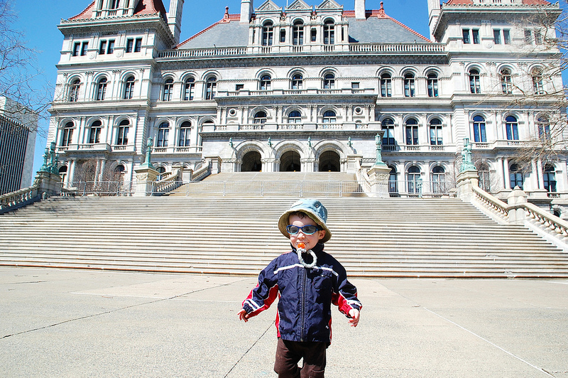 Owen at the New York state capitol in Albany