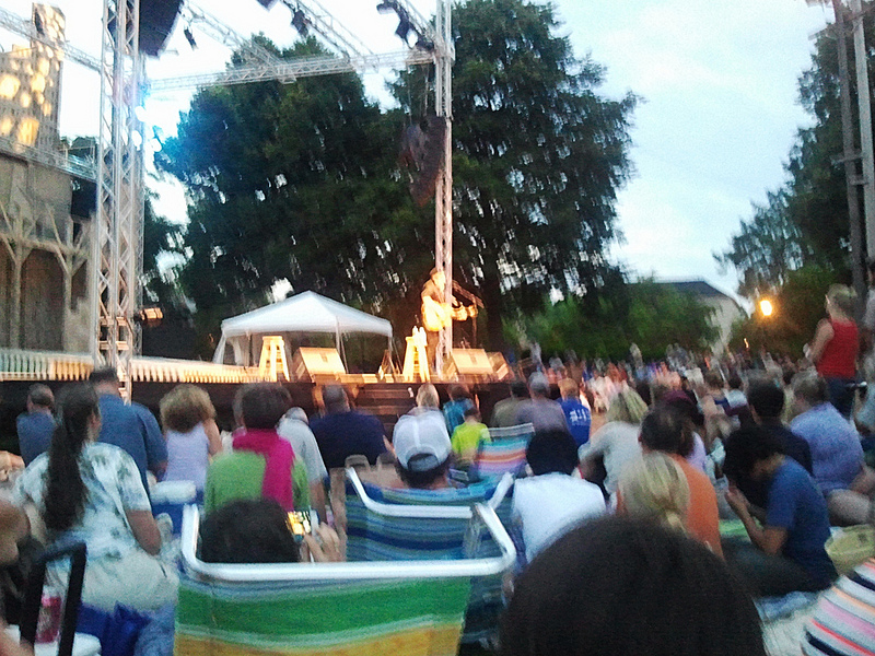 Richard Thompson performs at Prescott Park.