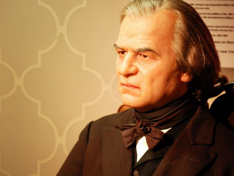 Andrew Johnson figure at Madame Tussaud's