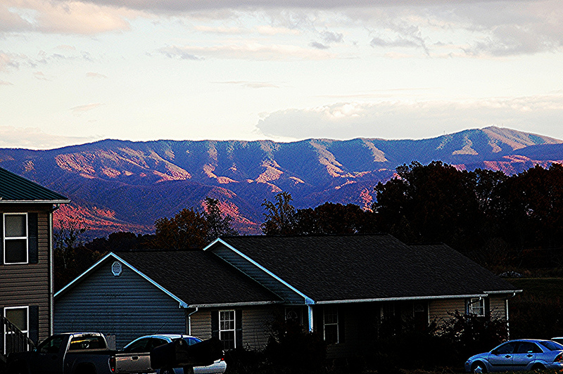 Mountain scenery in Greeneville