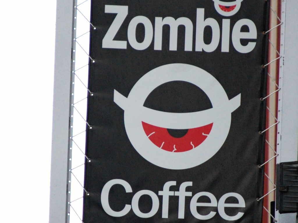 Zombie Coffee sign in Washington DC